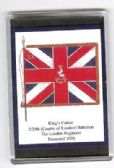 LONDON REGIMENT COLOURS 1920 LARGE FRIDGE MAGNET